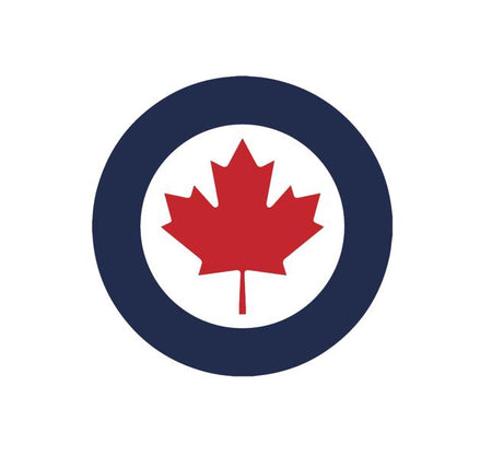 Military Decal-Aviation Decal-Aircraft Sticker-Aircraft Markings-Aviation Sticker-Military Aircraft Decal-RCAF Decal-Canada Decal - RCAF Roundel - Royal Canadian Armed Forces Decal