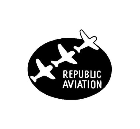 Republic Aviation - Republic Aviation Decal - Military Decal-Aviation Decal-Aircraft Sticker-Aircraft Markings-Squadron Markings-Aviation Sticker-Military Aircraft Decal - P47 decal