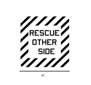 Aircraft Warning-Military Decal-Aviation Decal-Aircraft Sticker-Aircraft Markings-Aviation Sticker-Military Aircraft Decal-Rescue Aircraft Marking-Rescue Other Side