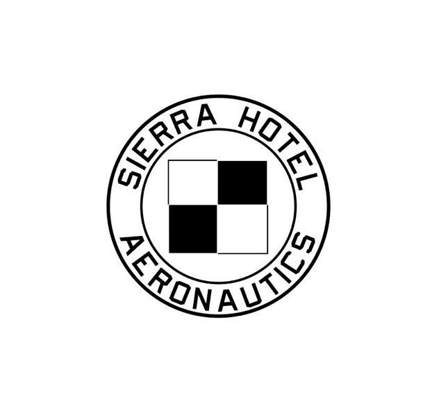 Sierra Hotel Aeronautics - Aviation Decal - Aviation Company - Aerospace Company - Sierra Hotel Aeronautics Logo - Sierra Hotel Aeronautics Decal - Zapper - Official Logo - Flight Crew Organization - Aviation Group -Crew Operations
