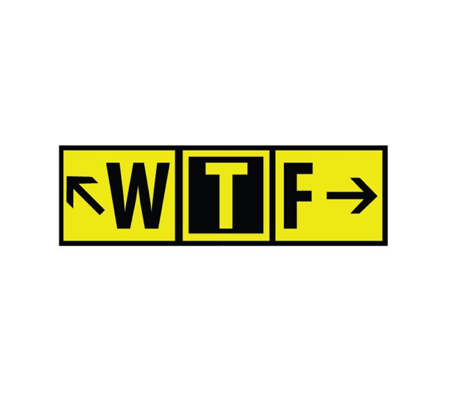 Aviation Decal, Airplane Decal, Airport Markings Decal, AV8R Decal, Aviation funny, Funny Decal, Pilot Decal, Runway Markings, Funny Aviation Stickers - WTF - WTF Decal