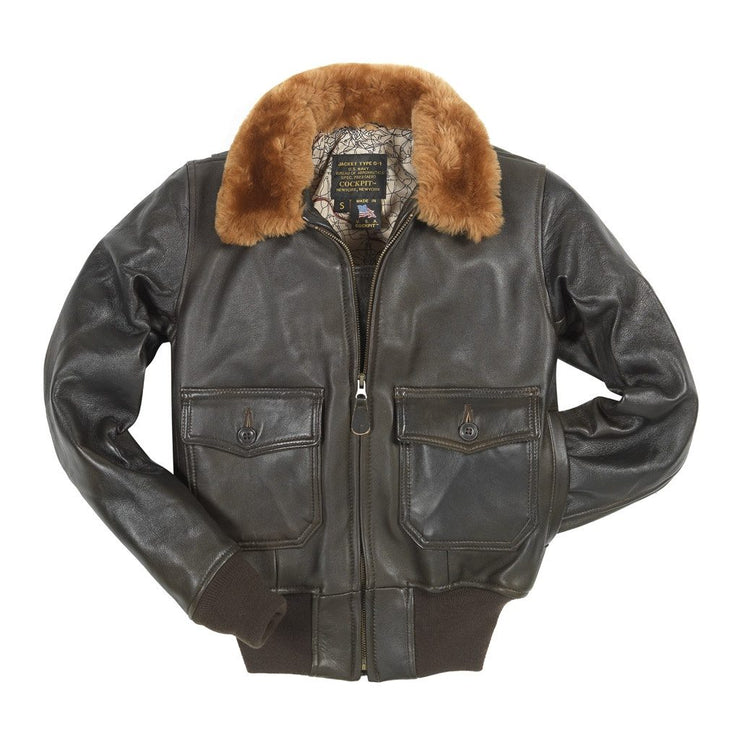 Women's G1 Jacket-G1 Flight Jacket-Leather Flight Jacket-Cockpit USA-Sierra Hotel Aeronautics