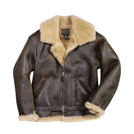RAF Sheepskin Jacket-Bomber Jacket-WW2 Jacket-RAF-CockpitUSA-Leather Flight Jacket