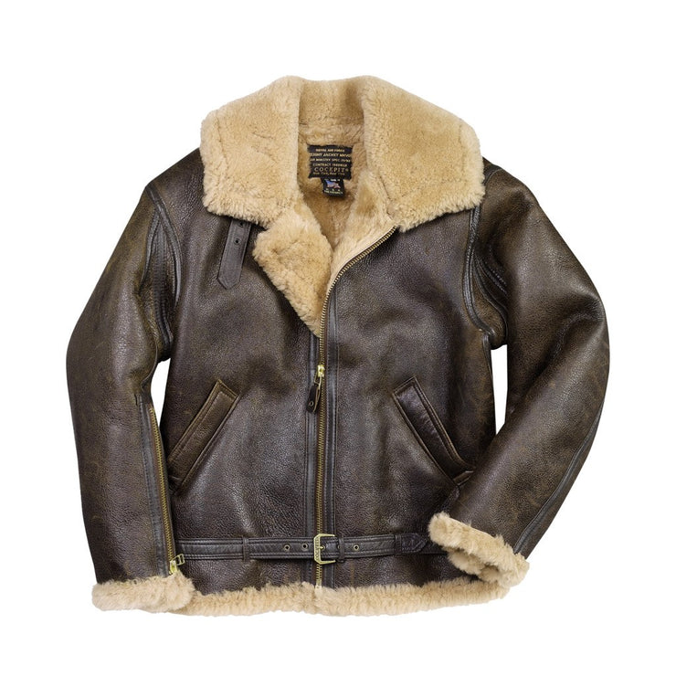 on feet at details for uk availability R.A.F. SHEEPSKIN BOMBER JACKET
