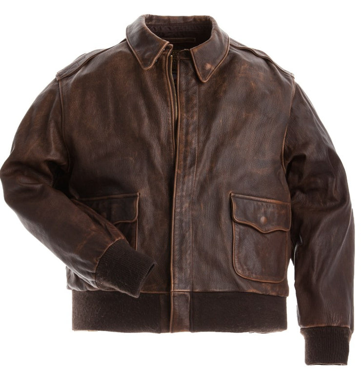 Mustang A2 Flight Jacket-A2 Flight Jacket-Pilots Jacket-USAF Jacket-WW2 Jacket-Cockpit USA-Sierra Hotel Aeronautics
