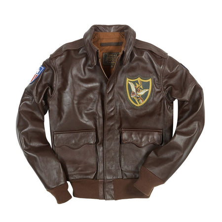 Flying Tigers A2 Jacket-A2 Jacket-23rd Fighter Group Jacket- Leather Flight jacket-Aviator Jacket-WW2 Jacket