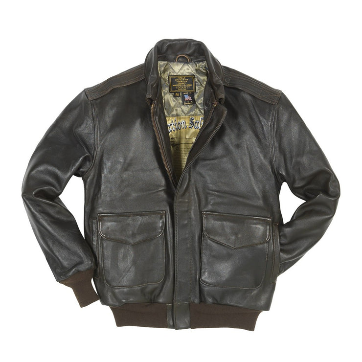 Antique Lamb A-2-A-2Jacket-Flight Jacket-Leather Pilot Jacket-CockpitUSA