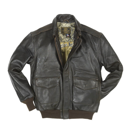 Antique Lamb A2-Flight Jacket-Aviator Jacket-USAF Jacket-CockpitUSA-Leather Jacket-WW2 Jacket-Fighter Pilot Jacket