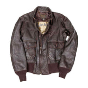 USS Forrestal Carrier Pilot's Flight Jacket, WW2 Jacket, G-1 Pilots Jacket, Leather Aviators jacket, military jacket, flight jacket, use jacket, Carrier pilot jacket