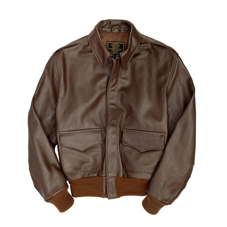 WW2 Government Issue A2-WW2 Flight Jacket-Aviator Jacket-Pilots Jacket-Leather Flight Jacket-Cockpit USA-Sierra Hotel Aeronautics