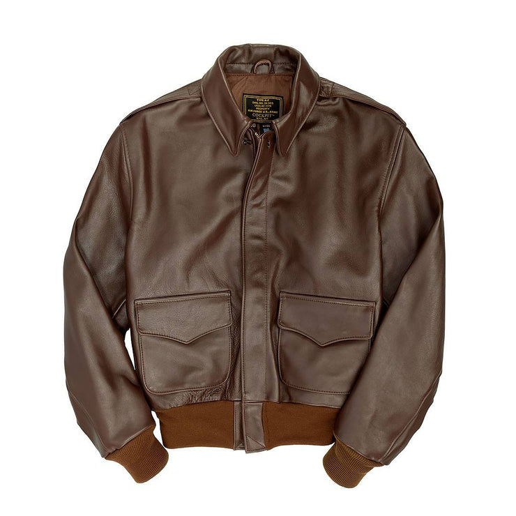 WW2 Government Issue A2-WW2 Flight Jacket-Aviator Jacket-Pilots Jacket-Leather Flight Jacket-Sierra Hotel Aeronautics
