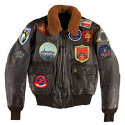G1 Flight Jacket-Pilots Jacket-G1 Jacket-Topgun Jacket-USnavy Jacket-CockpitUSA-Leather Jacket-Aviator Jacket