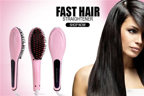 Fast Hair Brush Straightener - getnewdeals
