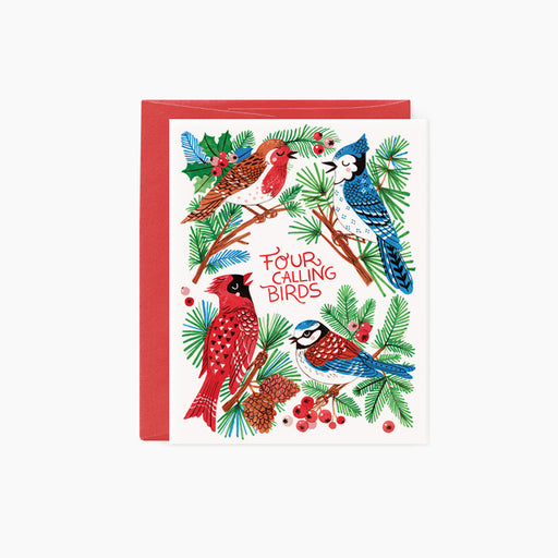 Four Calling Birds | holiday card