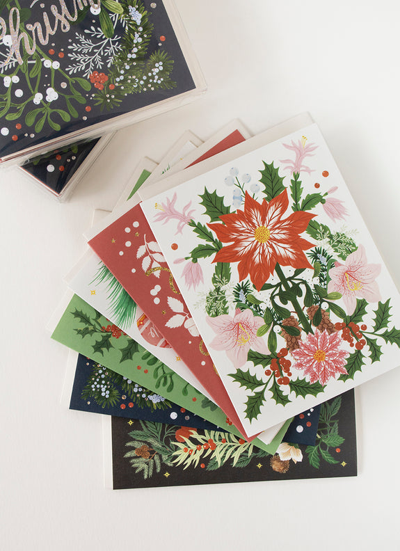 WINTER BOTANICALS | boxed pack of 6 cards & envelopes