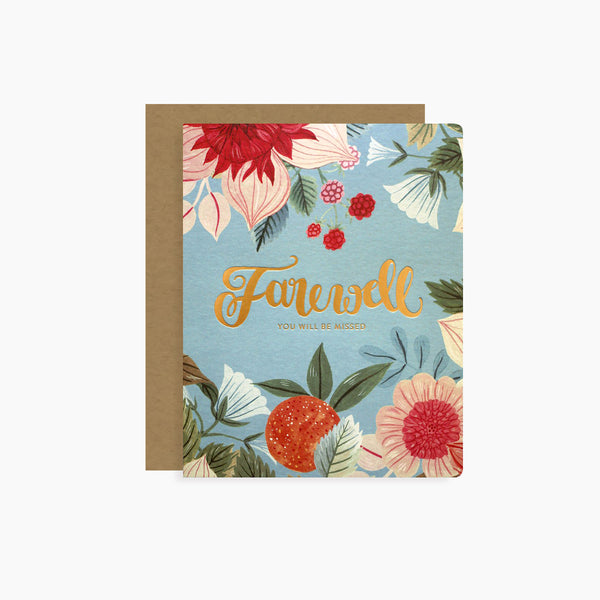 FAREWELL card | letterpress gold foil