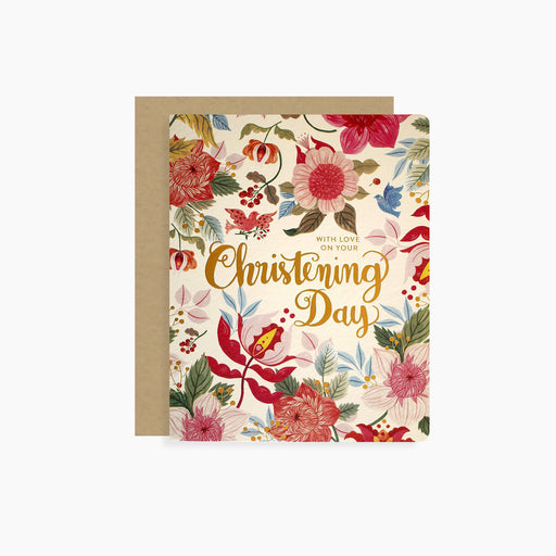 Christening Day card | letterpress gold foil