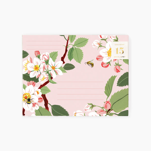 APPLE BLOSSOM Envelopes | Boxed set of 15