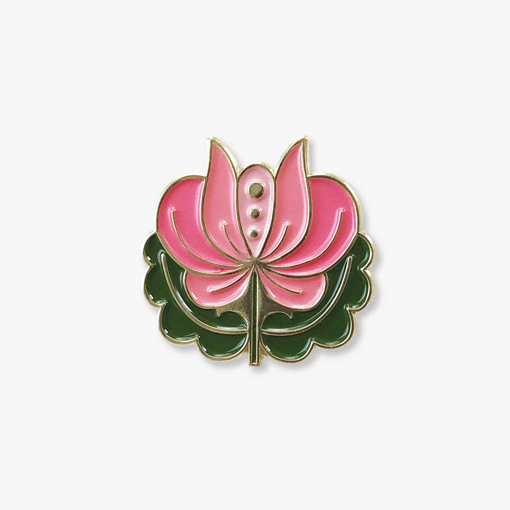 Folk Flower Enamel Pins