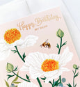 Matilija Poppy Birthday | rose gold foil