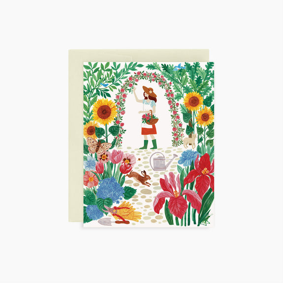 In the garden | greeting card