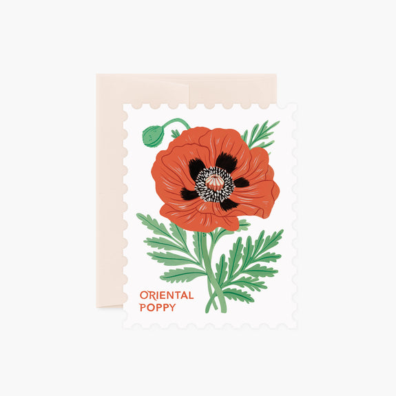 ORIENTAL POPPY | Die-Cut Card