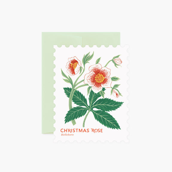 CHRISTMAS ROSE | Die-Cut Card