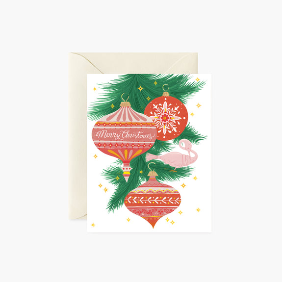 Vintage Ornaments |  Holiday Card