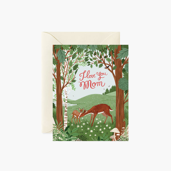 Deer, I Love You Mom card