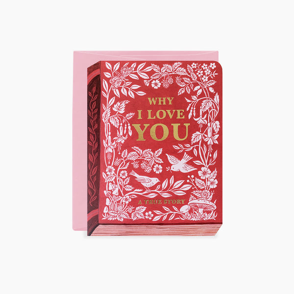 WHY I LOVE YOU card | gold foil