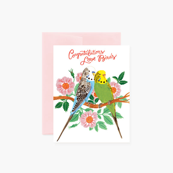 Love Birds | congratulations card