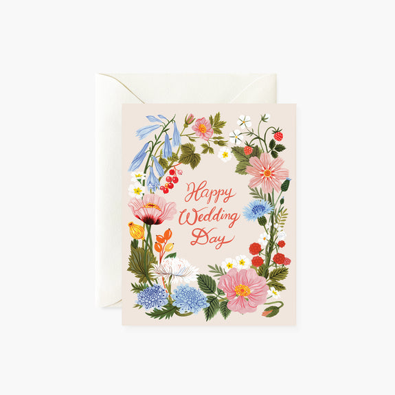 Happy Wedding Day | Floral card