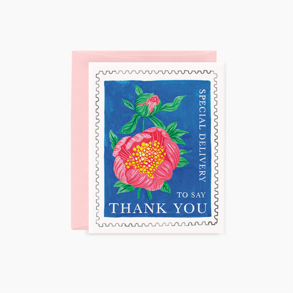FLORAL STAMP | Thank You card