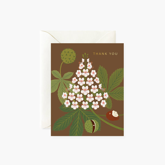 HORSE CHESTNUT Thank You Card