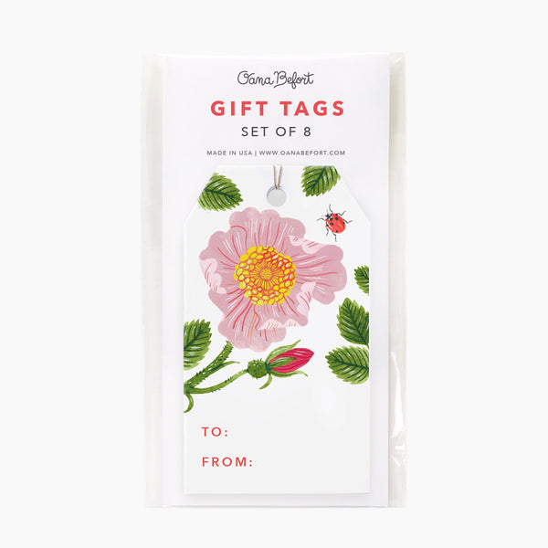 Wild Rose Gift Tags | Set of 8