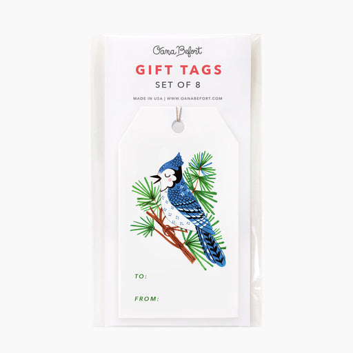 Blue Jay Gift Tags | Set of 8