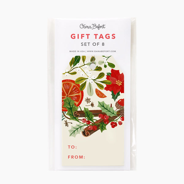 Winter Aromas Gift Tags | Set of 8
