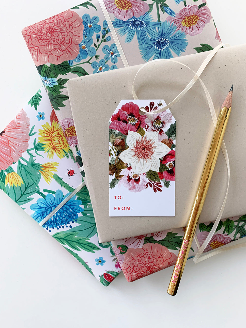 Flora Gift Tags | Set of 8