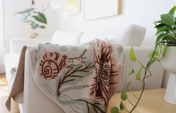 Meadow knitted blanket