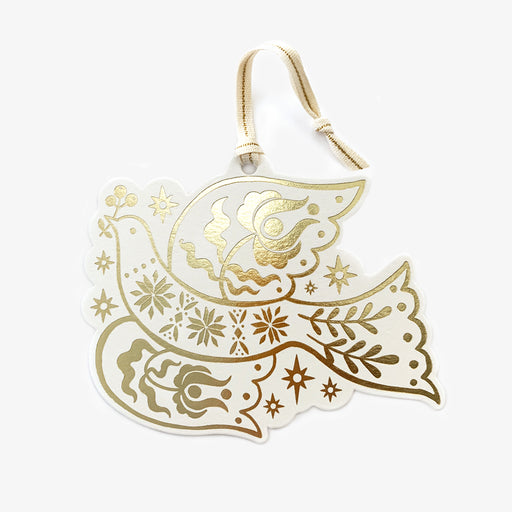 Gold Foil Christmas Ornament | Peace Dove