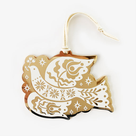 Folk Fine Enamel Christmas Ornament | Peace Dove