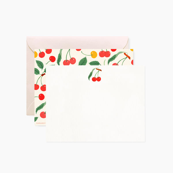 CHERRY  Notecards | Set of 4