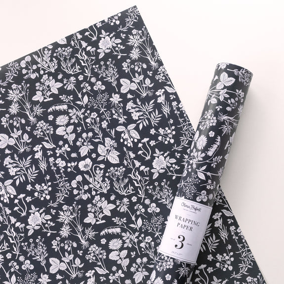 MEADOW dark gray | Gift Wrap Sheets