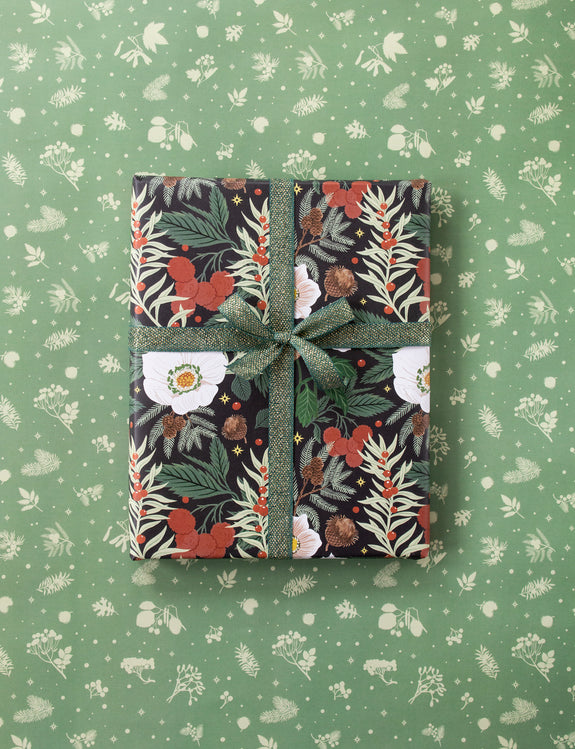 WINTER BOTANICALS | Double Sided Gift Wrap