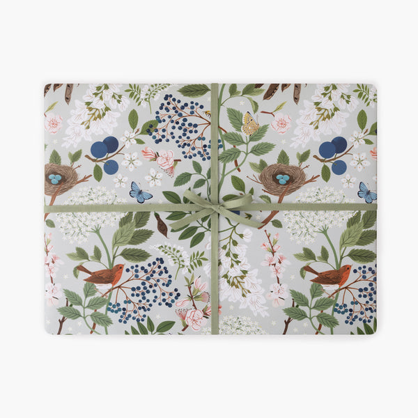 FLOWERING TREES | Double Sided Gift Wrap