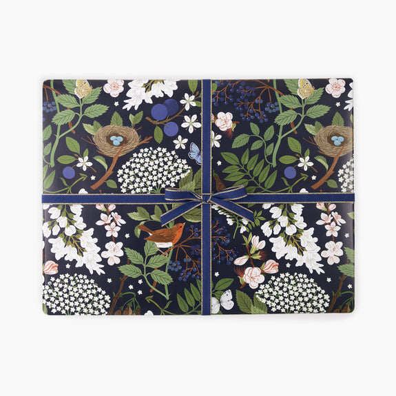 FLOWERING TREES - NIGHT | Gift Wrap Sheets