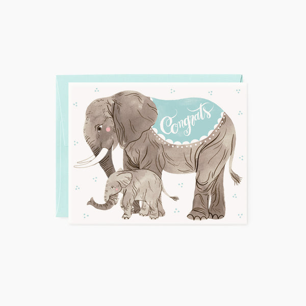Congrats card | Baby Blue