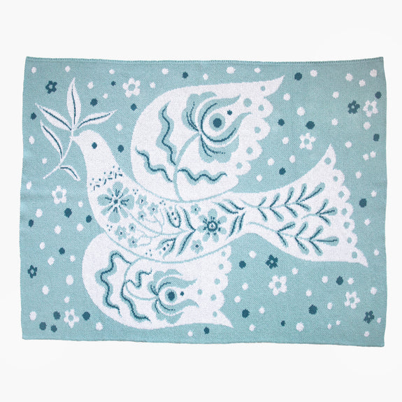 Peace Dove | Kid knitted blanket