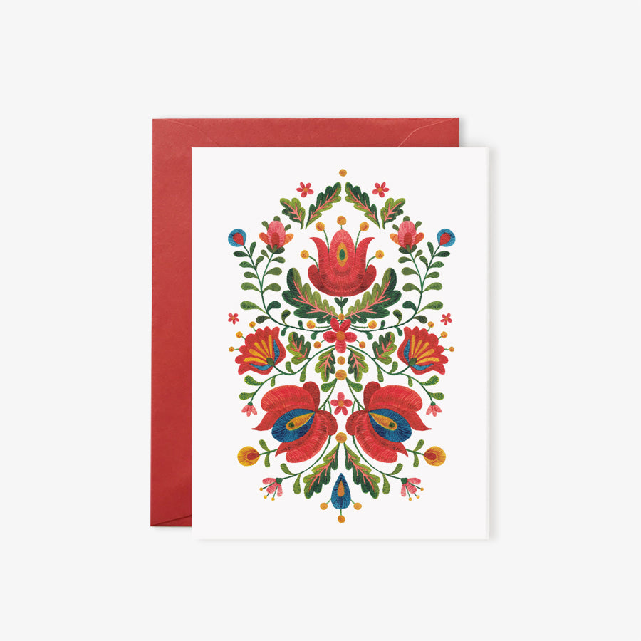 Romanian Folk Embroidery | card