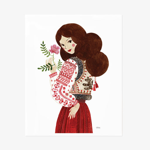Folk Lady Giclée Art Print